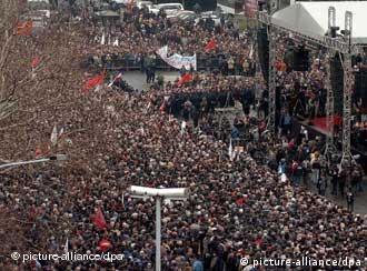 Церемония похорон Милошевича в Белграде