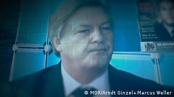 Юрген Эльзессер во время одного из своих телевизионных выступлений