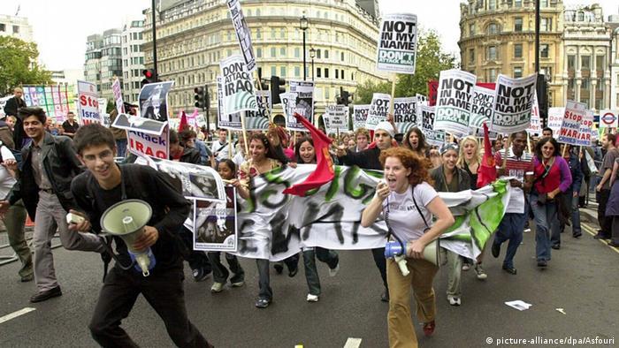 London Demonstration gegen Irak Krieg