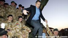 Irak Basra Tony Blair besucht britische Truppe