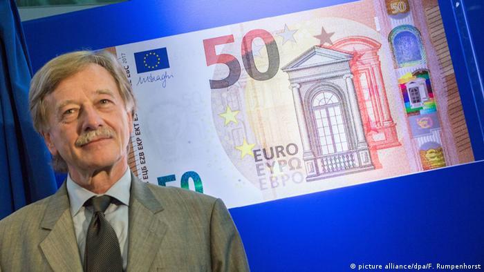 Ив Мерш представляет новую купюру 50 евро