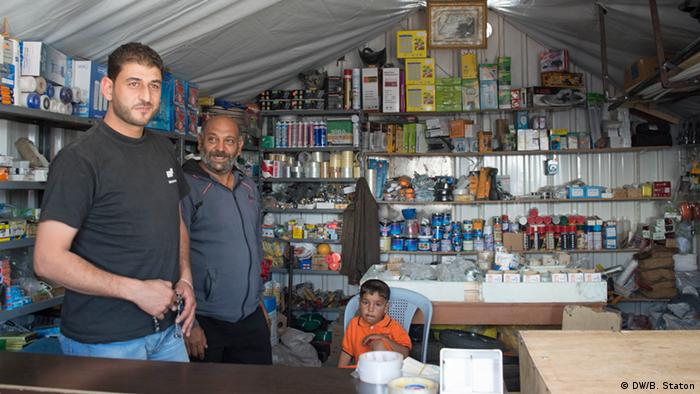 Osama's hardware store in the souk in Azraq Camp