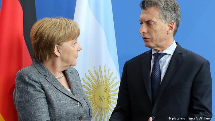 Merkel y Macri en Berlín.