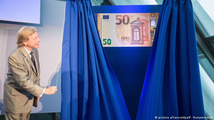 ECB presentation of the new 50-Euro banknote (picture alliance/dpa/F. Rumpenhorst)