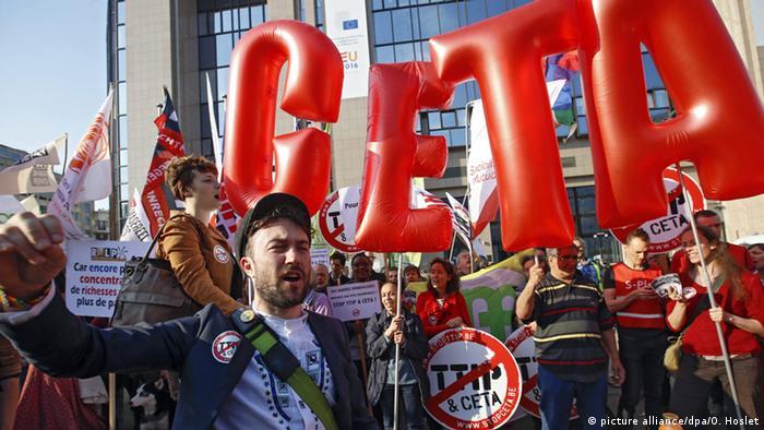 Demo gegen CETA und TTIP in Brüssel
