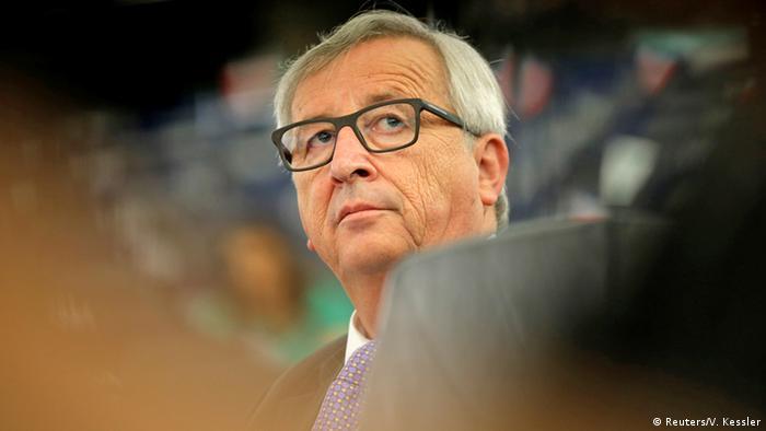 Frankreich Straßburg EU Parlament Jean-Claude Juncker