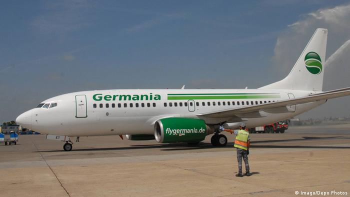 A Germania plane at a Turkish airport (Imago/Depo Photos)