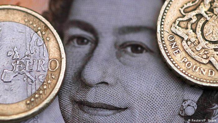Symbolbild Illustration Wechselkurs Euro britisches Pfund