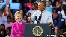 USA Wahlkampfauftritt Hillary Clinton und Barack Obama in North Carolina