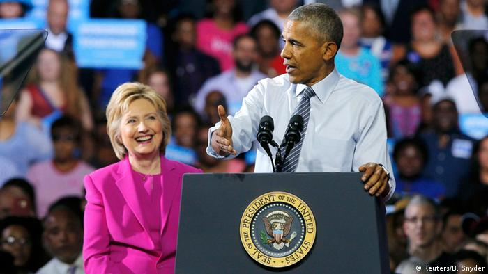 USA Wahlkampfauftritt Hillary Clinton und Barack Obama in North Carolina