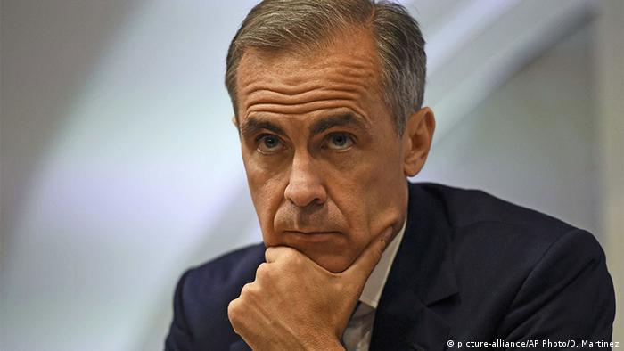 Großbritannien Mark Carney Gouverneur der Bank of England