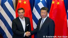 China griechischer Premierminister Alexis Tsipras & Xi Jinping