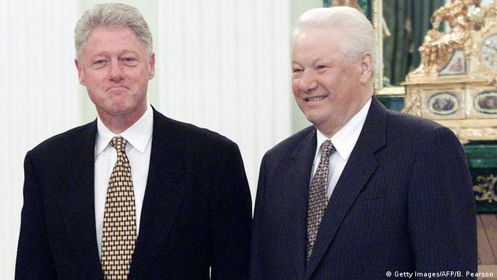 Bill Clinton & Boris Yeltsin (Getty Images/AFP/B. Pearson)
