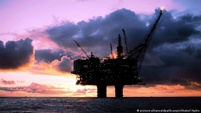 Norwegen Statoil Ölplattform in der Nordsee