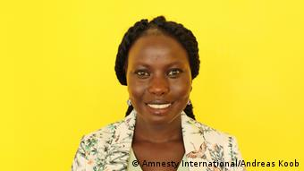 A portrait of Amnesty's South Sudan campaigner Nyagoah Tut. Copyright: Amnesty International/Andreas Koob