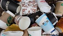 Deutscher Umwelthilfe Becher Müll Kaffee