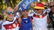 Frankreich Marseille Deutsche Fans vor dem Halbfinale