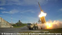 A Terminal High Altitude Area Defense (THAAD) interceptor is launched during a successful intercept test A Terminal High Altitude Area Defense (THAAD) interceptor is launched during a successful intercept test, in this undated handout photo provided by the U.S. Department of Defense, Missile Defense Agency. U.S. Department of Defense, Missile Defense Agency/Handout via Reuters/File Photo ATTENTION EDITORS - FOR EDITORIAL USE ONLY. NOT FOR SALE FOR MARKETING OR ADVERTISING CAMPAIGNS. THIS IMAGE HAS BEEN SUPPLIED BY A THIRD PARTY. IT IS DISTRIBUTED, EXACTLY AS RECEIVED BY REUTERS, AS A SERVICE TO CLIENTS Copyright: Reuters/U.S. Department of Defense/Missile Defense Agency