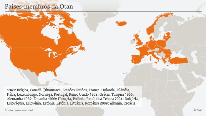 Infografik NATO Mitgliedsstaaten Portugiesisch