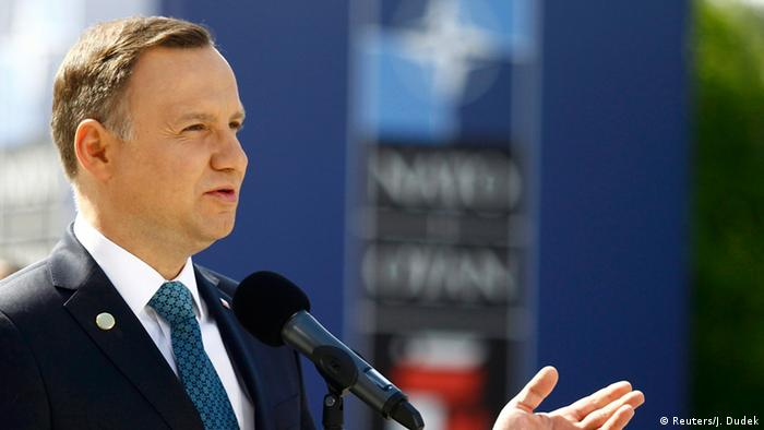 NATO Gipfel in Warschau Andrzej Duda Präsident Polen (Reuters/J. Dudek)