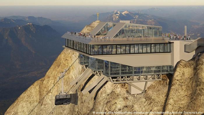 Проект новой станции на горе Цугшпитце
