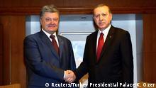 NATO Gipfel in Warschau Erdogan mit Poroschenko