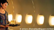 Flugbegleiterinnen Fluggesellschaft Singapore Airlines