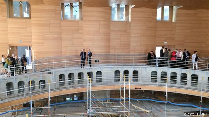 Der vom amerikanischen Architekten Frank Gehry entworfene Konzertsaal der Akademie im Herzen Berlins
