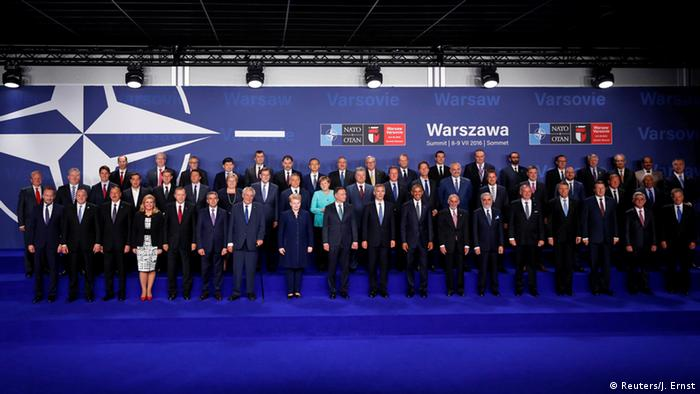 NATO sends signals to Russia at Warsaw summit
