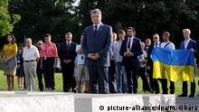 Polen Wolhynien-Massaker Gedenkstätte in Warschau Petro Poroschenko