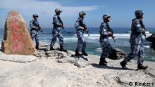 China lässt nicht locker: Im Südchinesischen Meer zeigt das Land Militärpräsenz.