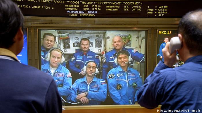 NASA Soyuz-MS Besatzung