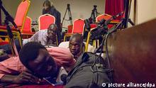 Südsudan Schüsse während PK im Präsidentenpalast