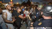 USA Polizei und Demonstranten in Baton Rouge