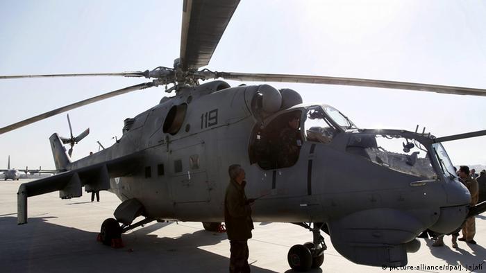 Mi 25 Helikopter (picture-alliance/dpa/J. Jalali)