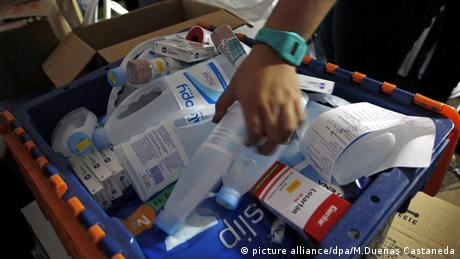 Venezuelans in Colombia gathering medical supplies to send to their home country