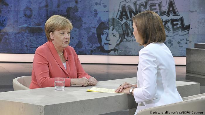 Deutschland Sommerinterview im ZDF mit Angela Merkel