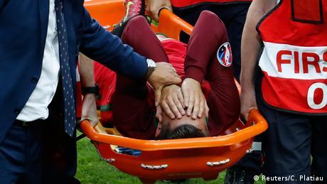 Frankreich Euro 2016 Finale Frankreich gegen Portugal Ronaldo verletzt