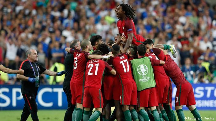 Frankreich Euro 2016 Finale Frankreich gegen Portugal Tor Eder