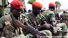 epa05418546 (FILE) A file photo dated 25 April 2016 showing a group of the 195 opposition soldiers arriving with General Simon Gatwech Dual, the chief of staff of the South Sudan rebel troops, in Juba, South Sudan. Reports on 10 July 2016 said hundreds were killed in two days of renewed fighting between supporters of President Salva Kiir and Vice-President Riek Machar. The UN Security Council condemned the fighting that erupted in Juba, the worst violence since a peace deal was signed in 2015 and forming the national unity government in April this year. EPA/PHILLIP DHIL +++(c) dpa - Bildfunk+++ | Copyright: picture-alliance/dpa/P. Dhil