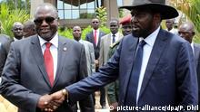 Südsudan Präsident Salva Kiir und Vizepräsident Riek Machar