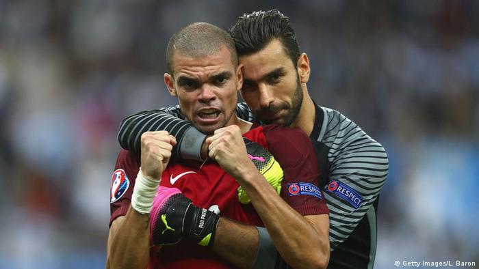 França Euro 2016 Final Pepe e Rui Patrício