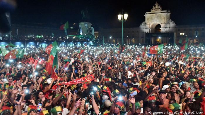 Portekiz'in başkenti Lizbon'da sevinç büyüktü