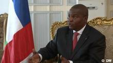 Videostill Präsident Touadera im Interview