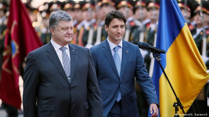 Петро Порошенко (л) та Джастін Трюдо