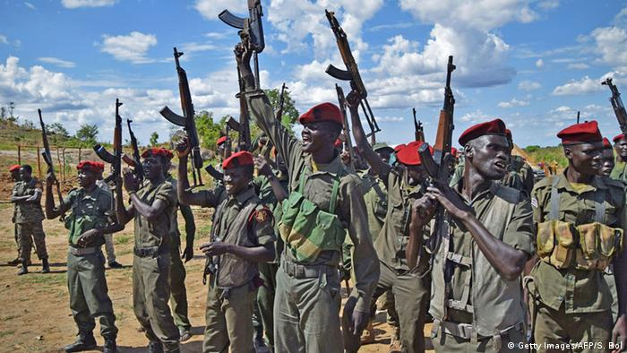 Südsudan Juba SPLA Rebellen (Getty Images/AFP/S. Bol)