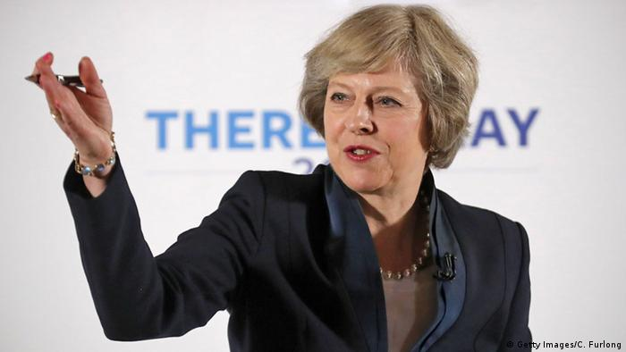 Theresa May speaks to the Conservative Party (c) Getty Images/C. Furlong