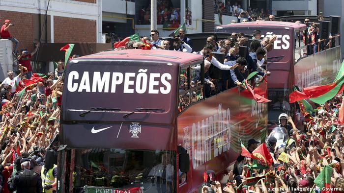 Portugal Lissabon Ankunft Nationalmannschaft EURO 2016