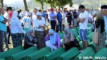 Bosnien Beerdigung in Srebrenica