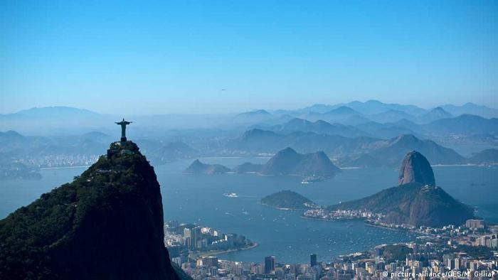 Statue in Rio de Janeiro, megacity in Brazil